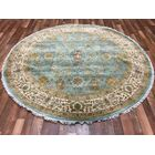 One-of-a-Kind Wallace Way Hand-Woven Wool Blue Area Rug