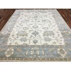 One-of-a-Kind Tulloch Oushak Hand-Woven Wool Blue Area Rug