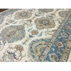 One-of-a-Kind Noi Peshawar Hand-Woven Wool Blue Area Rug
