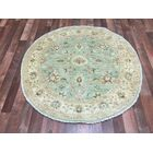 One-of-a-Kind Evert Peshawar Hand-Woven Wool Light Green Area Rug