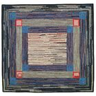 Jenette Hand Tufted Wool Blue Area Rug Rug Size: Rectangle 3' x 3'4