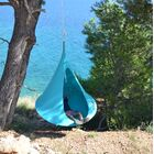Single Chair Hammock Color: Turquoise
