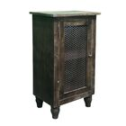 Crane Pine Wood 1 Door End Table