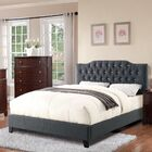 Cohen Upholstered Platform Bed Color: Blue Gray, Size: Queen