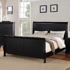 Bois Sleigh Bed Color: Black, Size: Queen