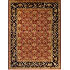 Xenos Hand-Knotted Wool Rust/Blue Area Rug