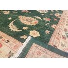 Xenos Hand-Knotted Rectangle Wool Green Area Rug