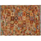 Bakerstown Hand-Woven Wool Red/Gold Area Rug