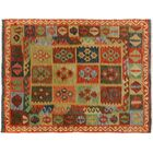 Bakerstown Hand-Woven Wool Gray/Red Oriental Area Rug