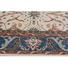 Badham Hand-Knotted Wool Ivory/Blue Area Rug