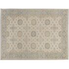 Xenos Hand-Knotted Wool Ivory/Gray Area Rug
