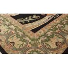 Bellomy Bhati Hand-Knotted Wool Black/Green Area Rug