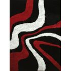 Sangiacomo Abstract Hand-Tufted Red/Black Area Rug