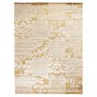 Super Tibetan Hand-Knotted Ivory/Beige Area Rug Rug Size: Rectangle 8' x 10'