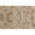 Oushak Hand-Knotted Wool Ivory/Blue Area Rug