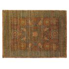 Mamluk Hand-Knotted Wool Rust Area Rug Rug Size: Rectangle 10' x 14'