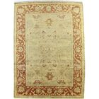 Anatolian Oushak Hand-Woven Wool Gold/Red Area Rug Rug Size: Rectangle 10' x 14'