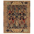 Jurassic Hand-Knotted Wool Blue/Brown Area Rug Rug Size: Rectangle 8' x 10'