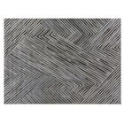Natural Hide Hand Woven Cowhide Gray/Black Area Rug Rug Size: Rectangle 9'6
