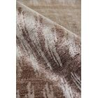 Hand-Knotted Silk Gray/Brown Area Rug Rug Size: Rectangle 8' x 10'