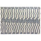 Hand-Woven Wool White/Navy Area Rug Rug Size: Rectangle 12' x 15'
