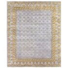 Khotan Hand-Knotted Wool Gray/Gold Area Rug Rug Size: Rectangle 10' x 14'