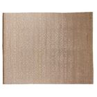 Hand-Knotted Wool/Silk Ivory Area Rug Rug Size: Rectangle 4' x 6'
