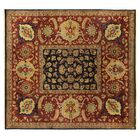 Tabriz Hand Knotted Wool Navy Area Rug Rug Size: Rectangle 14' x 16'