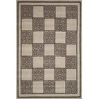 Hand-Knotted Wool/Silk Ivory/Brown Area Rug Rug Size: Rectangle 9' x 12'