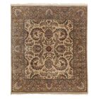 Traditional Hand-Knotted Wool Gold Area Rug Rug Size: Rectangle 6' x 9'