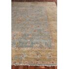 Oushak Hand-Knotted Wool Bluish Gray/Dark Beige Area Rug Rug Size: Rectangle 9' x 12'