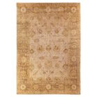 Oushak Hand-Knotted Wool Brown Area Rug Rug Size: Rectangle 6' x 9'