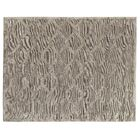 Hand-Knotted Wool/Silk Gray/Brown Area Rug Rug Size: Rectangle 8' x 10'