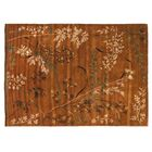 Super Tibetan Hand Knotted Wool/Silk Teracotta Area Rug Rug Size: Rectangle 9' x 12'