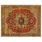 Serapi Hand-Knotted Wool Red Area Rug Rug Size: Rectangle 15' x 20'