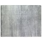 Plain Dove Hand-Knotted Silk Gray Area Rug Rug Size: Rectangle 14' x 18'
