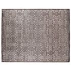 Hand-Knotted Silk Dark Gray Area Rug Rug Size: Rectangle 9' x 12'