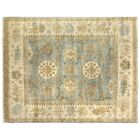 Oushak Hand Woven Wool Beige/Blue Area Rug Rug Size: Rectangle 8' x 10'