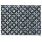 Natural Hide Leather Hand-Woven Navy Area Rug Rug Size: Rectangle 13'6