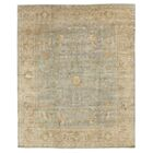 Oushak Hand-Knotted Wool Beige/Teal Area Rug Rug Size: Rectangle 14' x 18'
