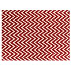Hand-Woven Wool White/Red Area Rug Rug Size: Rectangle 9'6