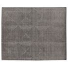 Robin Hand-Loomed Wool/Silk Dark Gray Area Rug Rug Size: Rectangle 9' x 12'