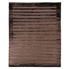 Hand-Woven Silk Chocolate Area Rug Rug Size: Rectangle 15' x 20'