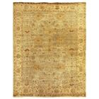 Oushak Hand-Knotted Wool Beige Area Rug Rug Size: Rectangle 14' x 18'