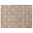 Super Tibetan Hand-Knotted Taupe Area Rug Rug Size: Rectangle 9' x 12'