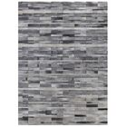 Natural Hide Hand-Woven Cowhide Light Gray Area Rug Rug Size: 8' x 11'