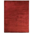 Dove Courduroy Hand-Woven Silk Red Area Rug Rug Size: Rectangle 14' x 18'
