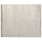 High Low Wave Light Hand-Woven Cotton Light Silver Area Rug Rug Size: 8' x 10'