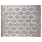Metro Moreno Hand-Knotted Wool Silver Area Rug Rug Size: 4' x 6'