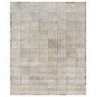 Natural Hide Hand-Tufted Cowhide White Area Rug Rug Size: 13'6